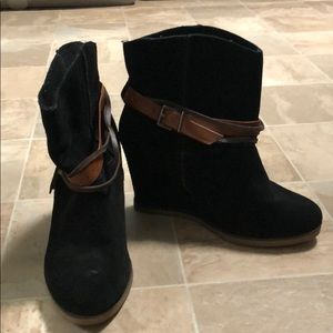 MIA booties with brown straps